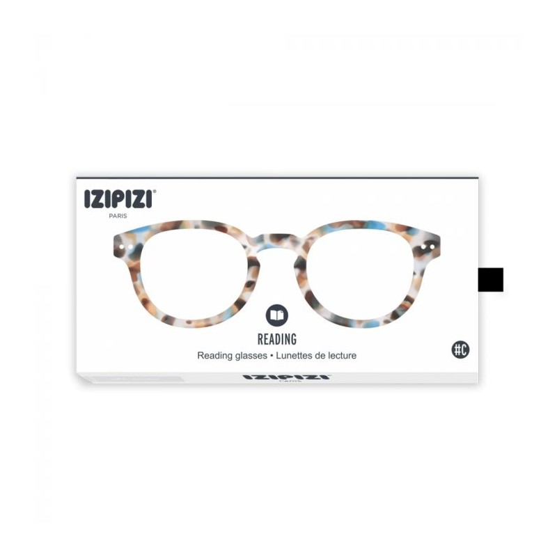 izipizi – Izipizi briller, c reading, blå tortoise - størrelse - +3 på superlove