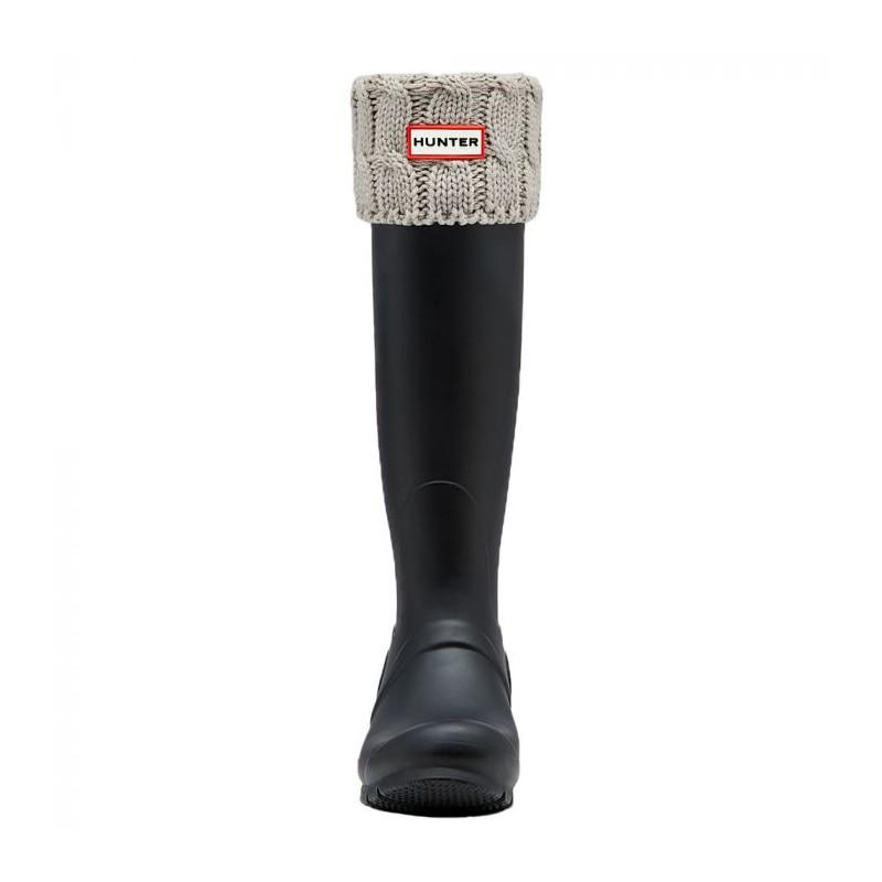 hunter boots Hunter sokker, six-stitch cable, grå - størrelse - m på superlove