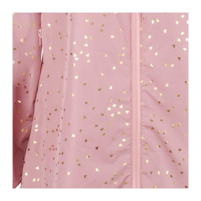 danefæ – Danefæ regnfrakke, helen m/hjerter, rosa/guld - størrelse - xl på superlove
