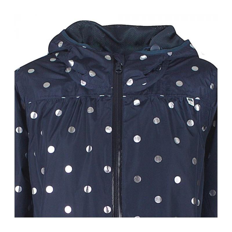 danefæ – Danefæ regnfrakke, helen m/prikker, navy/sølv - størrelse - l fra superlove
