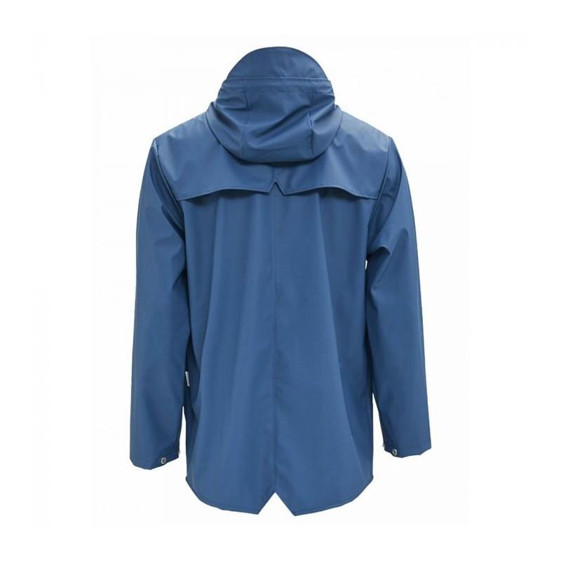 rains regntøj – Rains regnjakke, kort, faded blue - størrelse - xs/s fra superlove