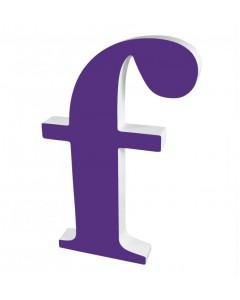 Superliving, Bogstav f 40cm, Purple