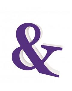 Superliving, Bogstav & 20cm, Purple