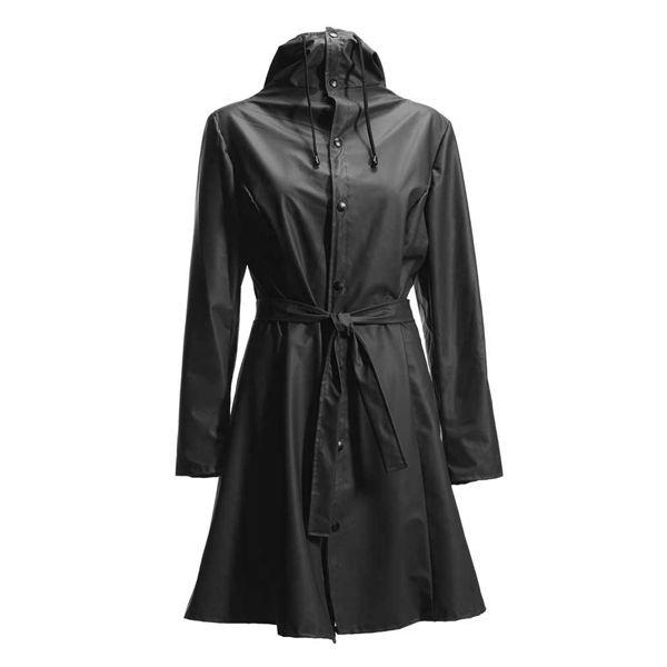 rains regntøj – Rains regnjakke, curve, sort - størrelse - xs/s på superlove