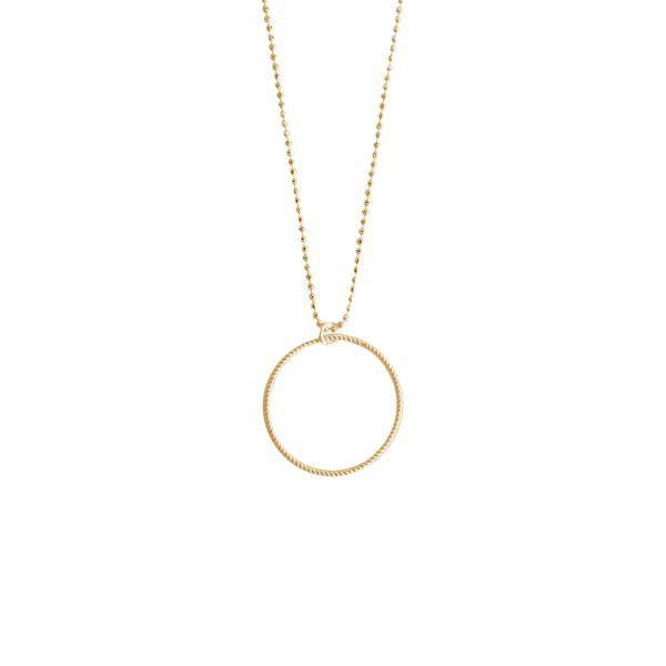 pernille corydon – Pernille corydon, small twisted halskæde, guld - størrelse - 42 fra superlove