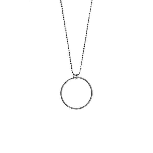 Pernille corydon, small twisted halskæde, oxyderet - størrelse - 42 fra pernille corydon på superlove