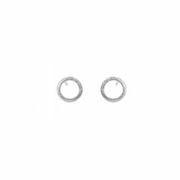 Pernille corydon øreringe, single circle, sølv fra pernille corydon fra superlove