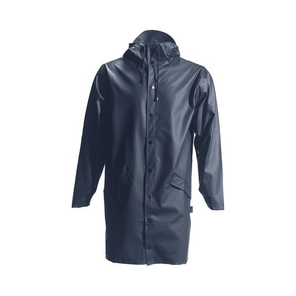 rains regntøj – Rains, lang regnjakke, blå - størrelse - l/xl fra superlove