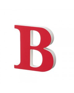 Superliving, Bogstav B 20cm, Red
