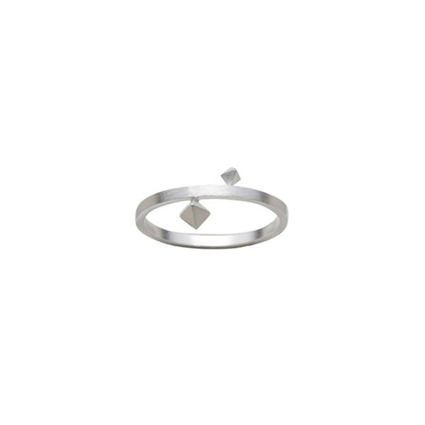 Zöl, pyramide ring, sølv - størrelse - 54 fra zöl fra superlove