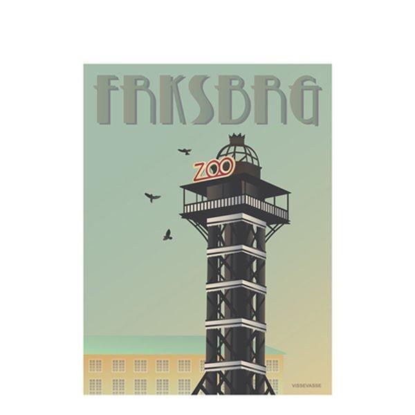 vissevasse Vissevasse, plakat 30x40 cm, frksbrg, zootårnet på superlove