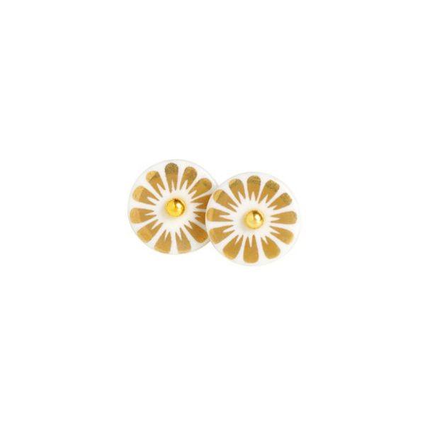Image of   Scherning, Ørestikker Bloom, Guld/Guld