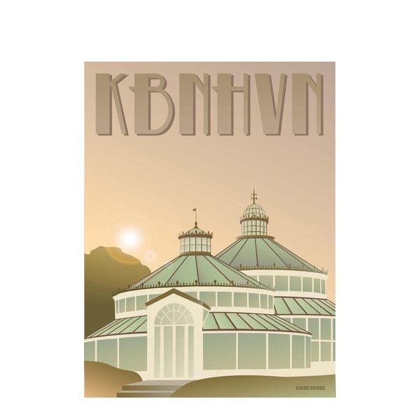 vissevasse Vissevasse, plakat 30x40cm. kbhhvn, botanisk have fra superlove