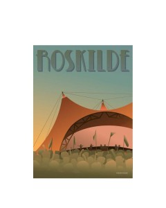 Vissevasse, Plakat 30x40cm, Roskilde Festivalen