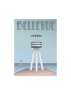 Vissevasse, Plakat 30x40cm, Bellevue, Livreddertårnet