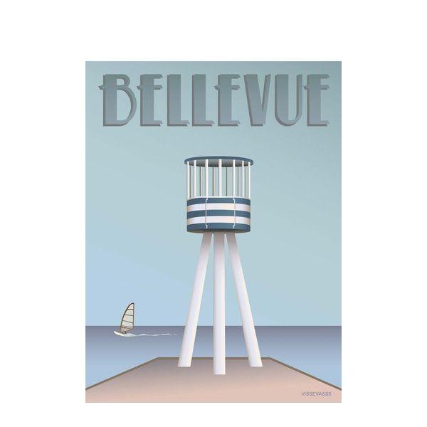 vissevasse – Vissevasse, plakat 30x40cm, bellevue, livreddertårnet fra superlove