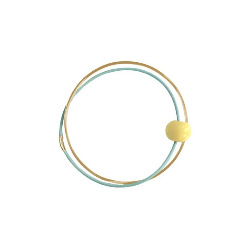 Pendulum Armbånd, Ceramic, Guld/Mint/Gul