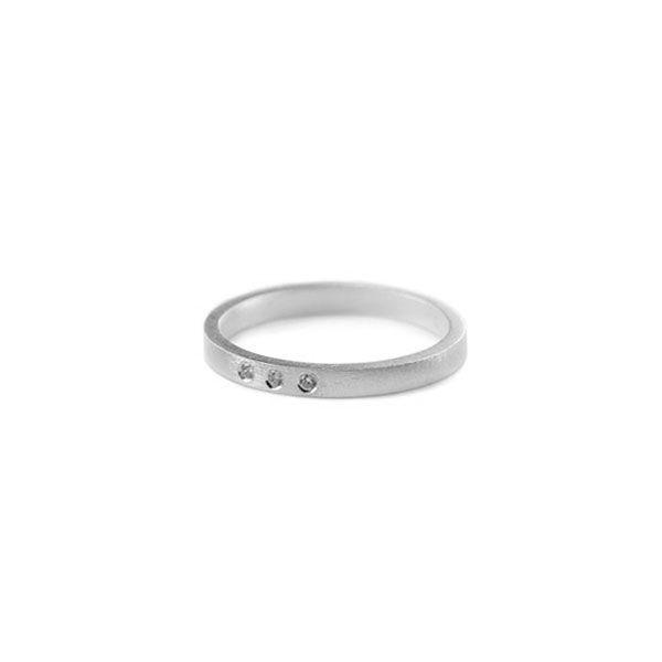 pernille corydon – Pernille corydon, petite alliance trible ring, sølv - størrelse - 52 fra superlove