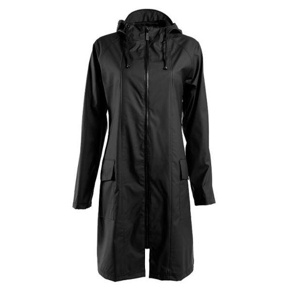 Rains regnjakke, a-jacket, sort - størrelse - xs/s fra rains regntøj på superlove