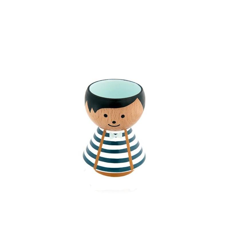 Image of   Lucie Kaas Æggebæger, Bordfolk, Boy Blue Stripes