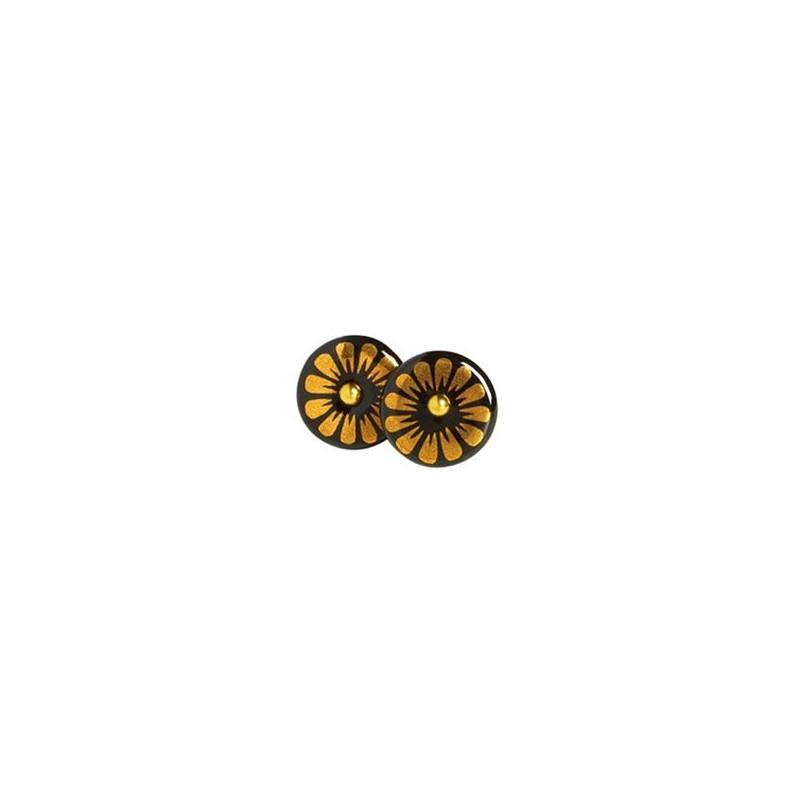 Scherning ørestikker, bloom, guld/sort fra scherning fra superlove