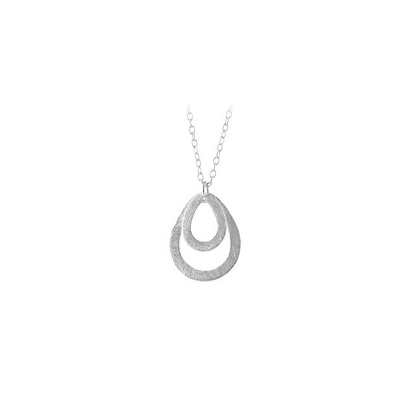 pernille corydon – Pernille corydon, mini double drop halskæde, sølv på superlove