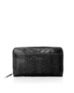 Decadent Pung, Medium Zip Wallet, Anaconda Black