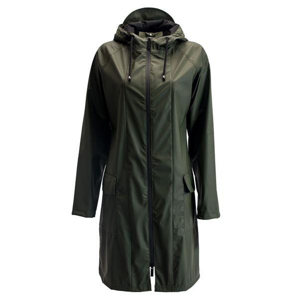 Rains regnjakke, a-jacket, grøn - størrelse - xs/s fra rains regntøj fra superlove