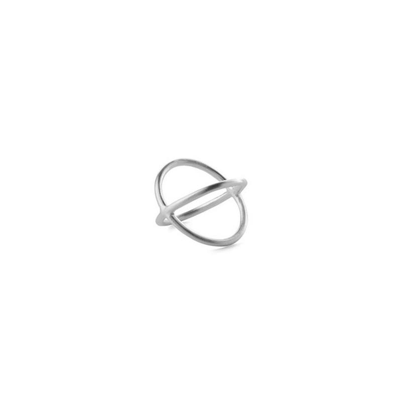pernille corydon Pernille corydon ring, crossed, sølv - størrelse - 55 fra superlove