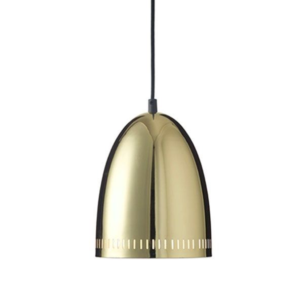 Superliving lampe, mini dynamo chrome, brass fra superliving fra superlove