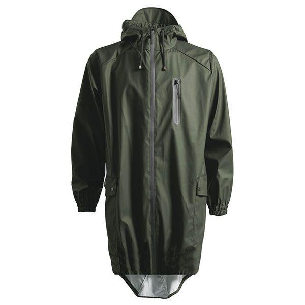 rains regntøj – Rains regnjakke, parka coat, grøn - størrelse - s/m på superlove