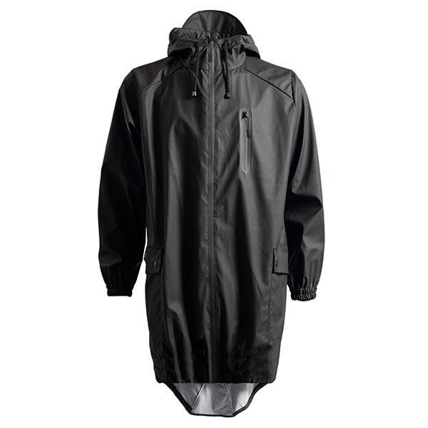rains regntøj – Rains regnjakke, parka coat, sort - størrelse - l/xl på superlove