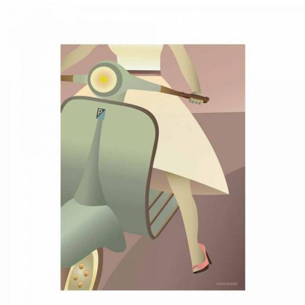 Vissevasse plakat 30x40 cm, vespa fra vissevasse fra superlove