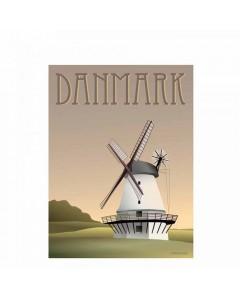 Vissevasse Plakat 30x40 cm, Danmark - Møllen