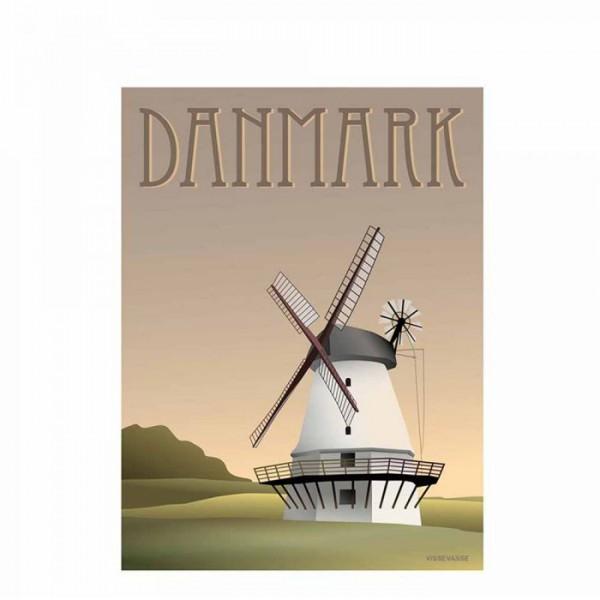 vissevasse – Vissevasse plakat 30x40 cm, danmark - møllen fra superlove