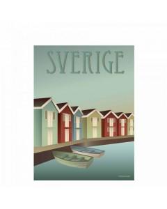 Vissevasse Plakat 30x40 cm, Sverige - Skærgården