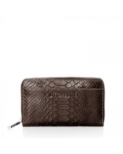 Decadent Pung, Medium Zip Wallet, Anaconda Brown