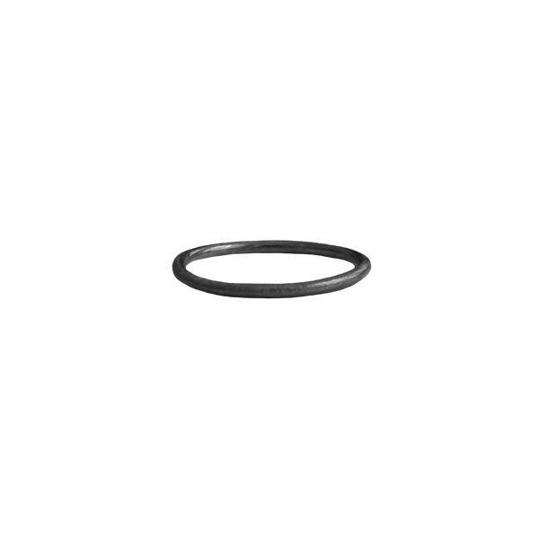 Pernille corydon ring, plain, rhodium - størrelse - 52 fra pernille corydon fra superlove