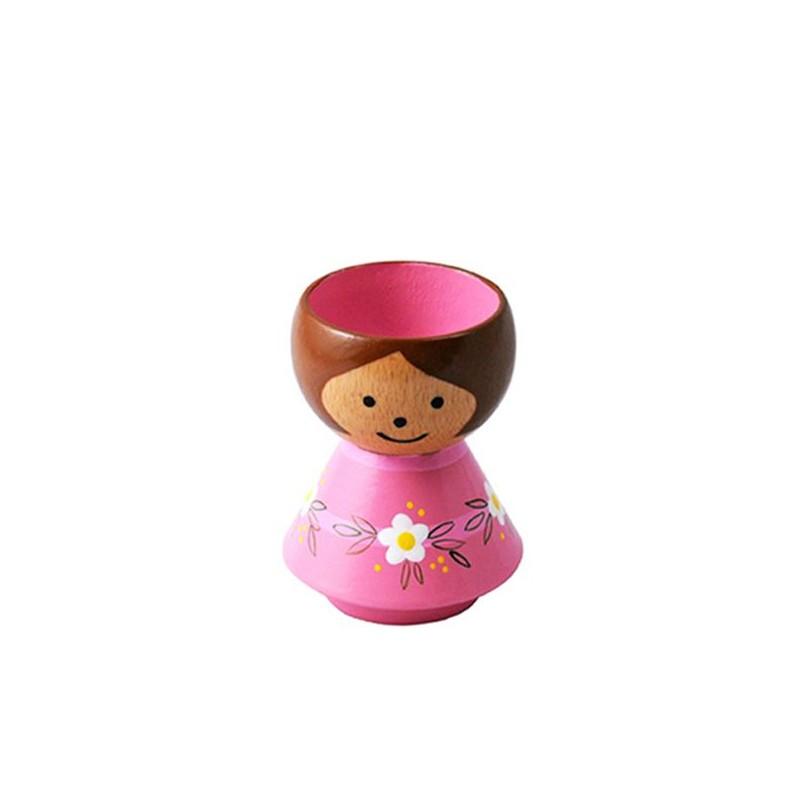 Image of   Lucie Kaas, Bordfolk Pige i Pink Kjole