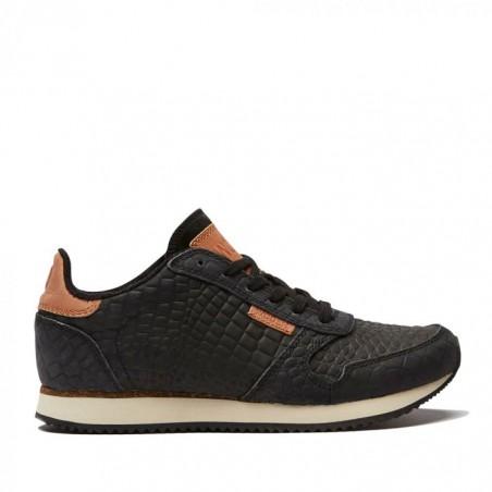 Woden Sneakers, Ydun Croco, Sort