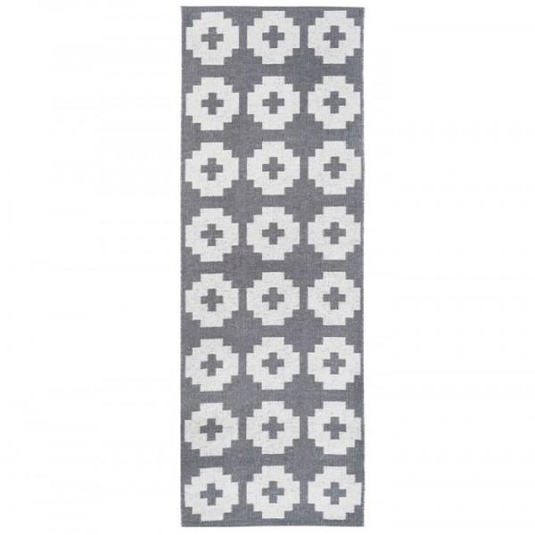 brita sweden – Brita sweden plasttæppe, flower 70x200, grå fra superlove