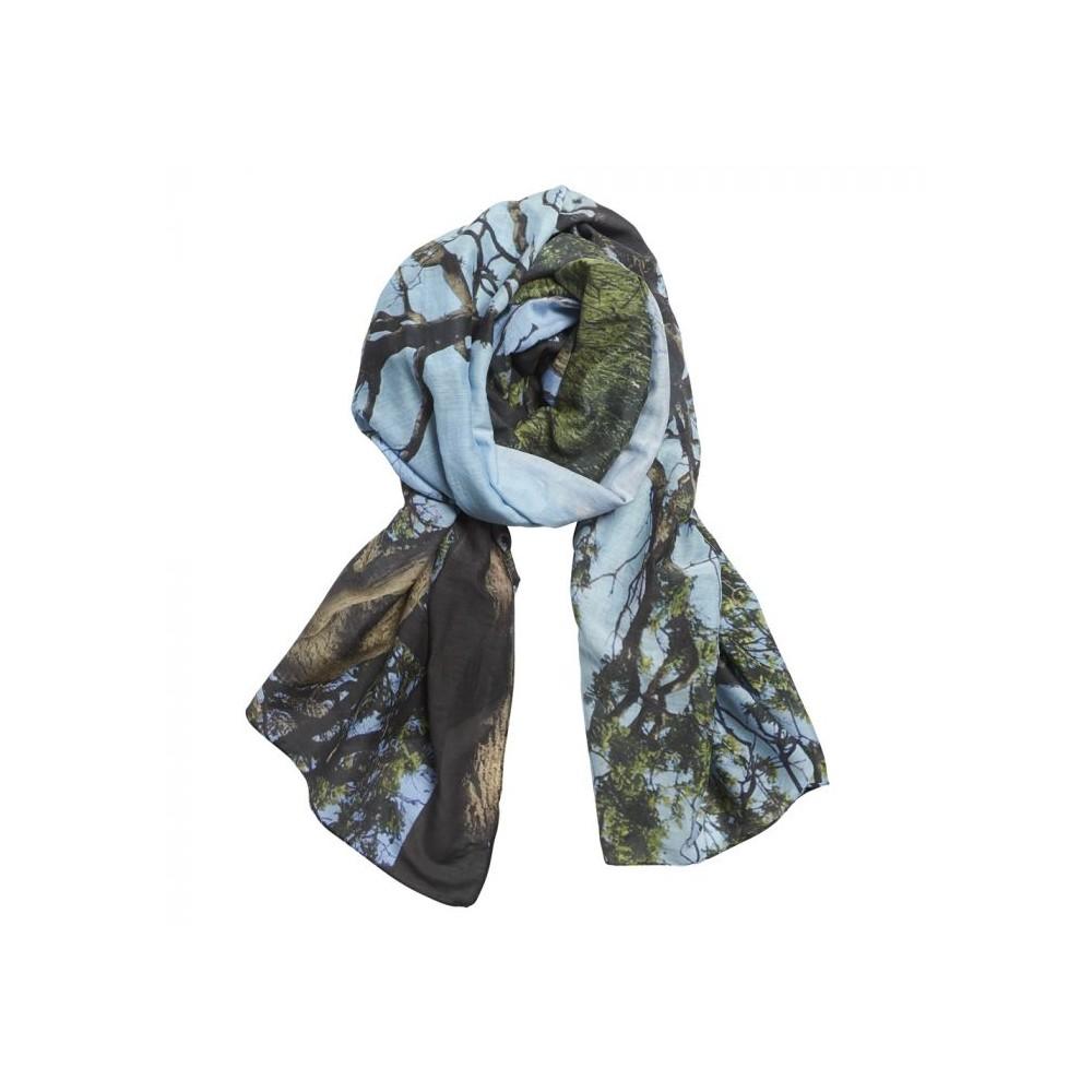 inspired by – Inspired-by tørklæde, forest, bomuld/silke fra superlove