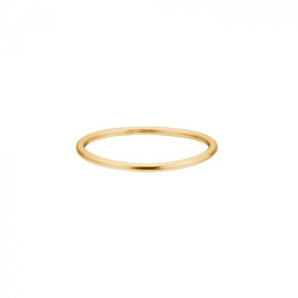 enamel Enamel ring, simple, guld - størrelse - 50 fra superlove