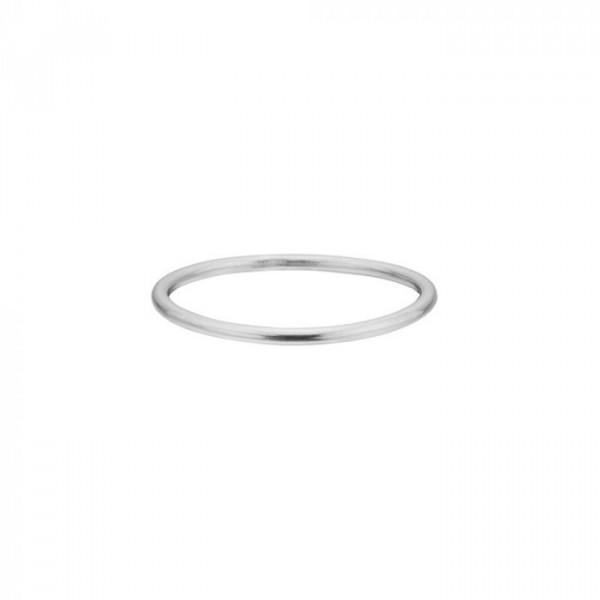 Enamel ring, simple, sølv - størrelse - 52 fra enamel på superlove