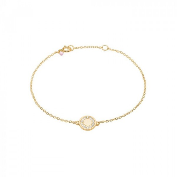enamel – Enamel armbånd, mini cz, guld fra superlove