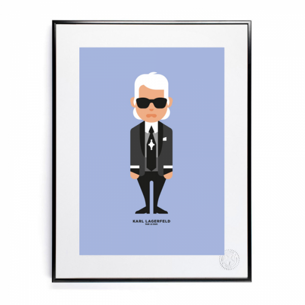 image republic – Image republic plakat 56x76, le duo, karl lagerfeld på superlove