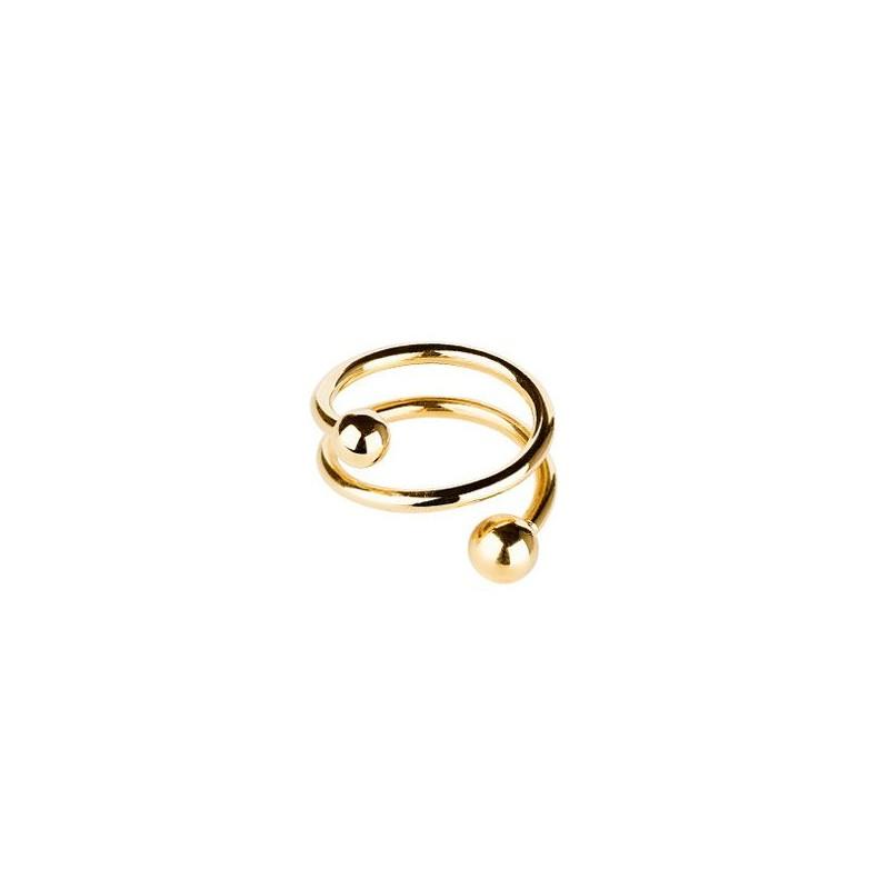 maria black Maria black ring, body spiral, guld - størrelse - 56 fra Edgy.dk
