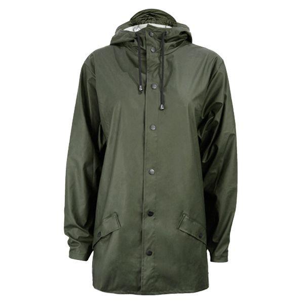 Rains Regnjakke, Kort, Grøn