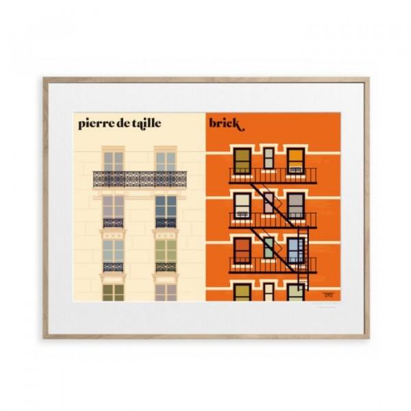 Image republic plakat 40 x 50, vahram mauratyan, la facade fra image republic fra superlove