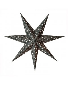 Earth Fiendly Lampe, Starlightz Cristal Black, Sort